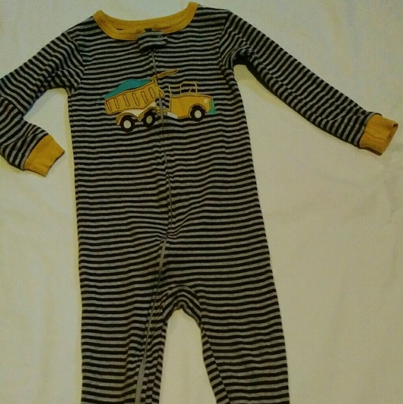 2e79f85c7f Carter s Other - Striped Boys Carters Cotton Footed Sleeper Pajamas